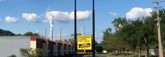 Large sign for Kanawha Valley Distribution Center